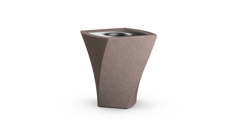 Twist Waste Container in Russet-brown
